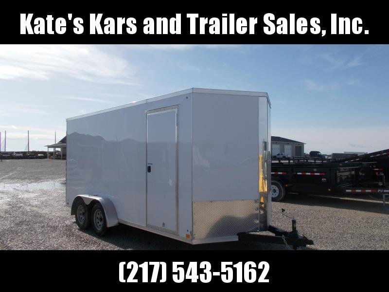 "*NEW* Cross 7X16' Screwless sides 12"" Additional Height Enclosed Cargo Trailer"