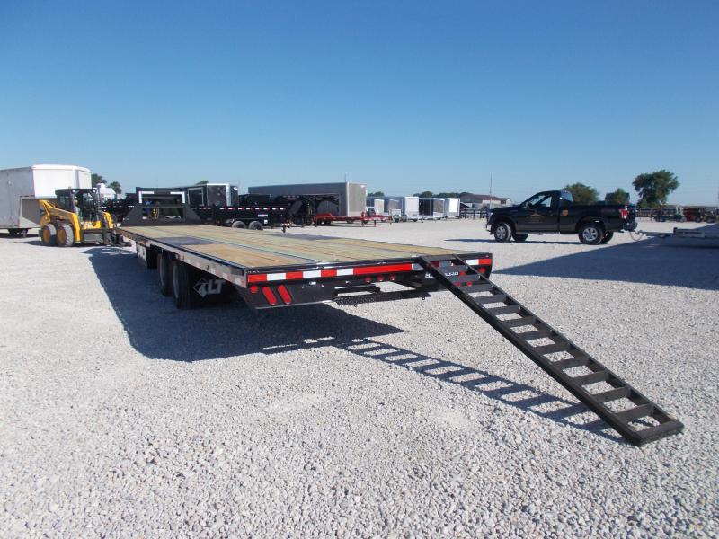 AIR RIDE Load Trail 102X40' Gooseneck Hyd Disc Brakes Flatbed Trailer Hotshot