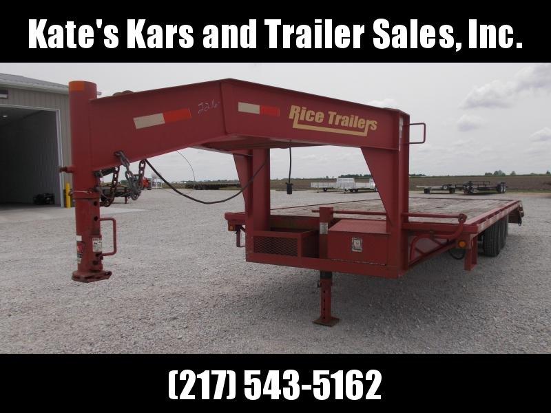 Used Rice 25' Gooseneck Flatbed Deckover Trailer 14K LB in Ashburn, VA