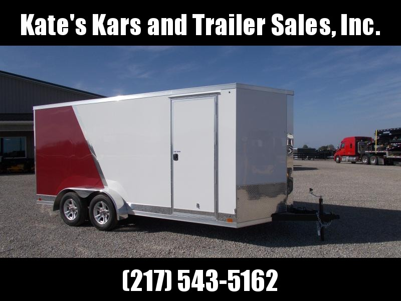 LO@K at this sharp Cross Trailers 7X16' Two Tone Extra Tall Screwless Side Enclosed Cargo Trailer