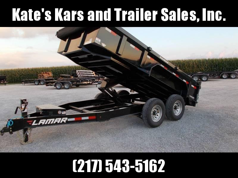 *NEW* Lamar 83X14'  7GA Floor Dump Trailer