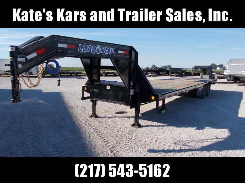 NEW!! 2020 Load Trail 102X36 12k Axles Hydro Dove+Jacks Rough Oak Floor Flatbed Trailer
