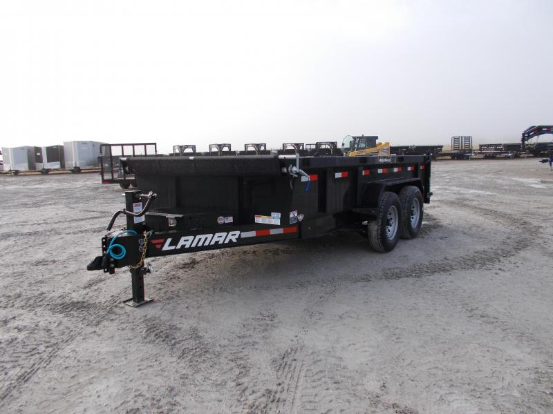 *NEW* Lamar 83x14' Dump Trailer HD 7GA Floor 14K LB