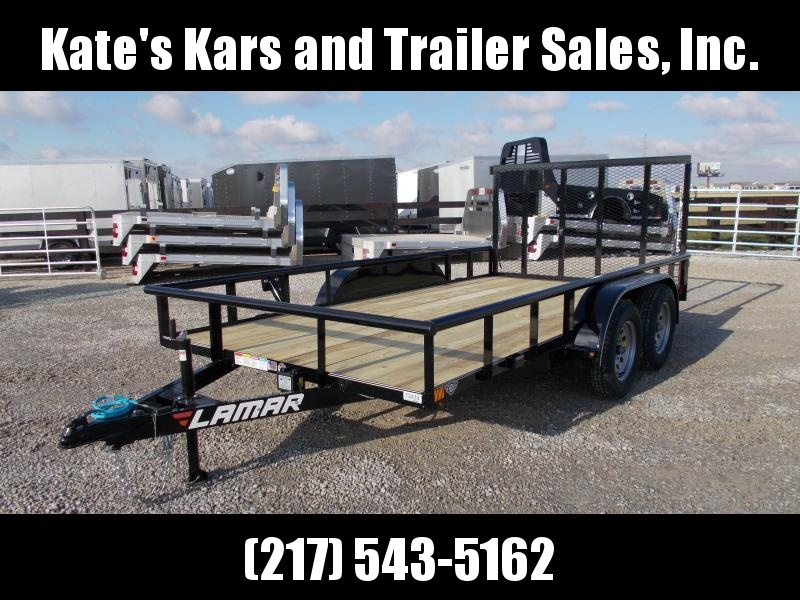*NEW* PIPETOP 83x14' Utility Trailer Spring Loaded Gate