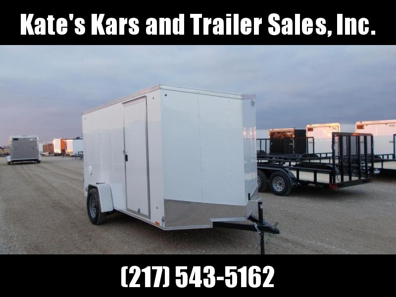 *NEW* Cargo Express 6X12' Enclosed Cargo Trailer Ramp Door V Nose