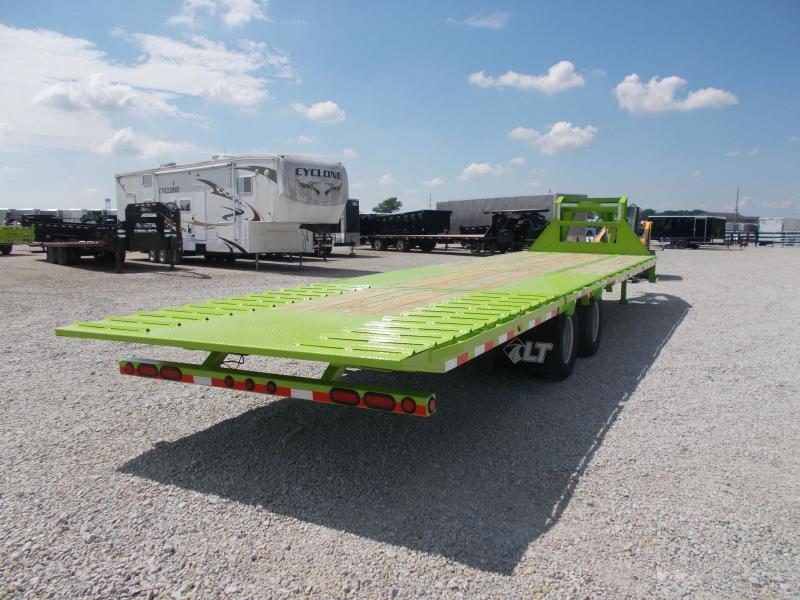 GOOSENECK Load Trail 102X32' Hydraulic Dovetail Hydro Jacks Flatbed Trailer