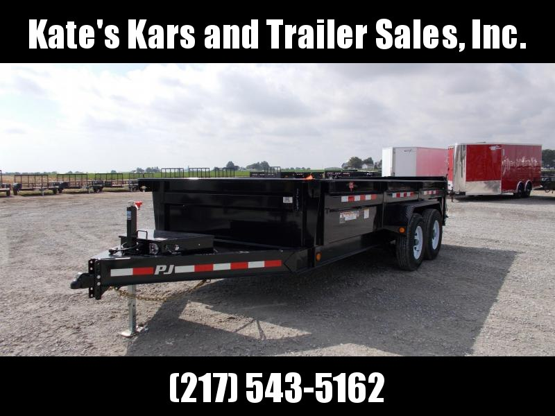 *NEW* PJ 83X16' Tandem Low Pro dump Trailer 14K LB