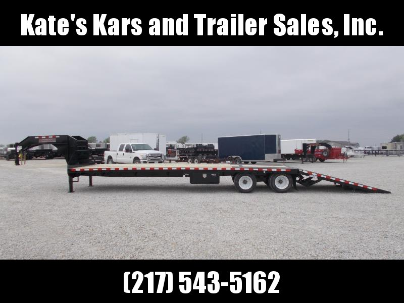 *NEW**  Midsota 36' Hydraulic Dovetail Gooseneck Flatbed Trailer Hydro Jacks Engineered I Beam