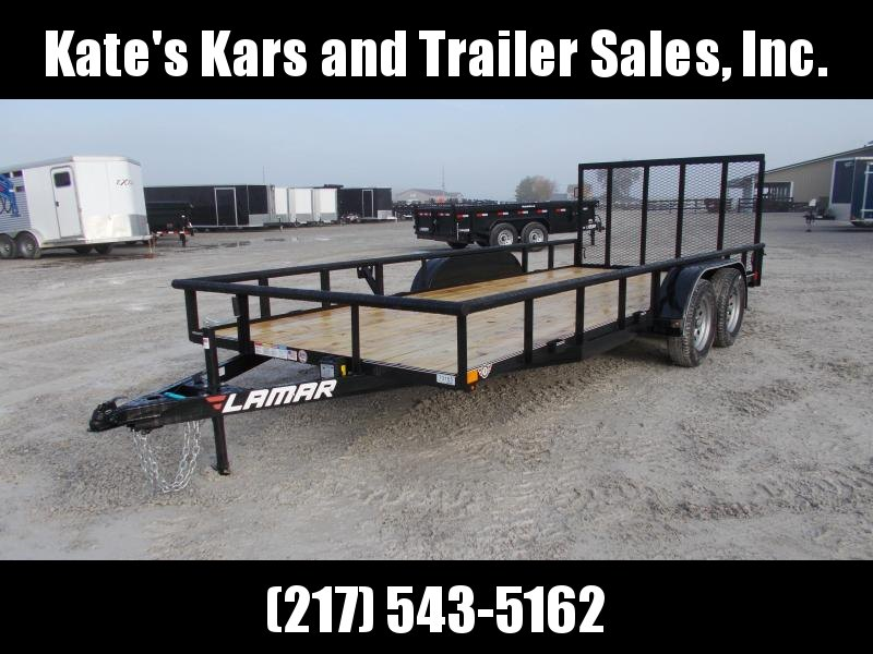 *NEW* Lamar 83x18' Utility Flatbed trailer 4 brakes LED Radials