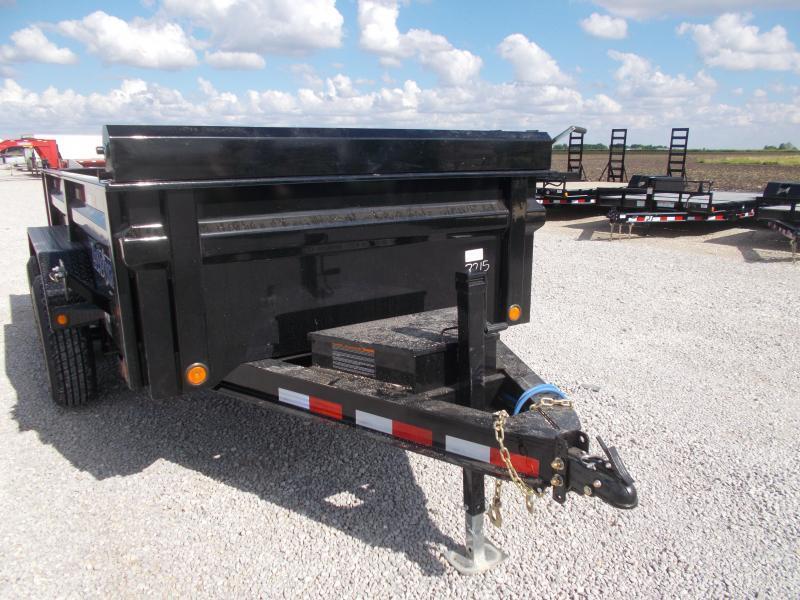 6X12' Load Trail Dump trailer 9990 LB GVWR w/ Tarp ramps led