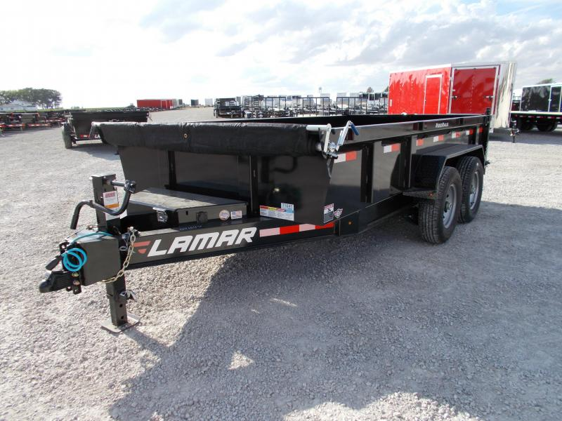 *NEW* Lamar Heavy Duty 14' Dump Trailer 14K LB Tandem axle