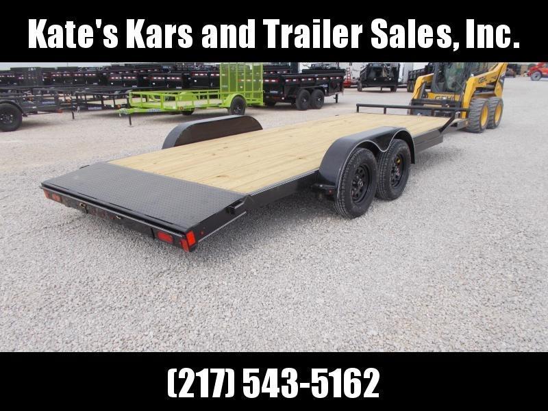 "*NEW!! Lamar  83""X20' Car Hauler W/ Removable Fenders Flatbed  Trailer"