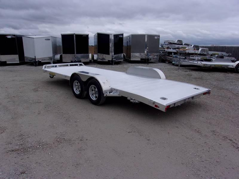 2018 Aluma 82X20 Aluminum Flatbed car Trailer Car / Racing Trailer ...