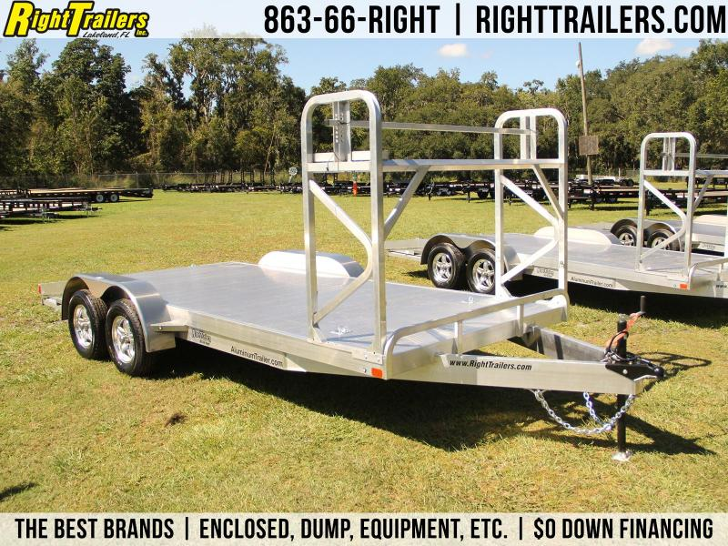 7x18 ATC Race Car Trailer | Open Car Hauler [Tire Rack]