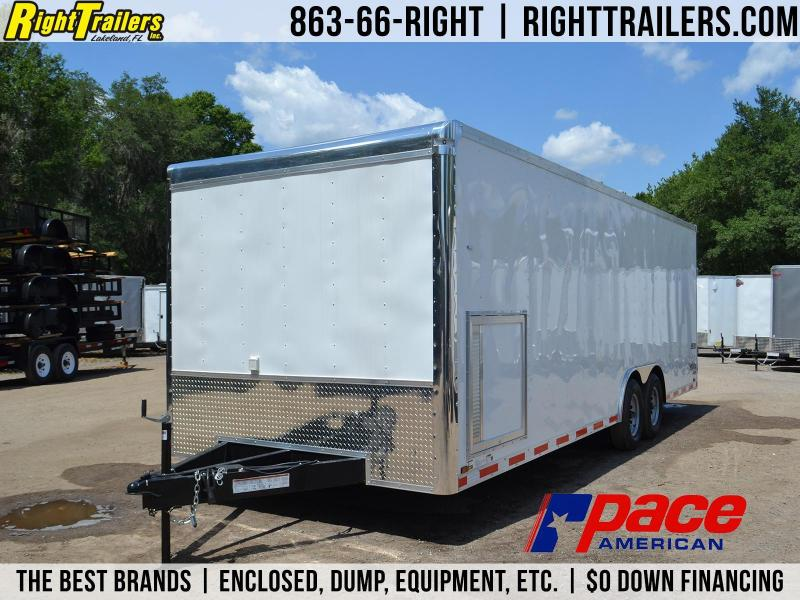 8.5x24 Pace American | Race Car Trailer