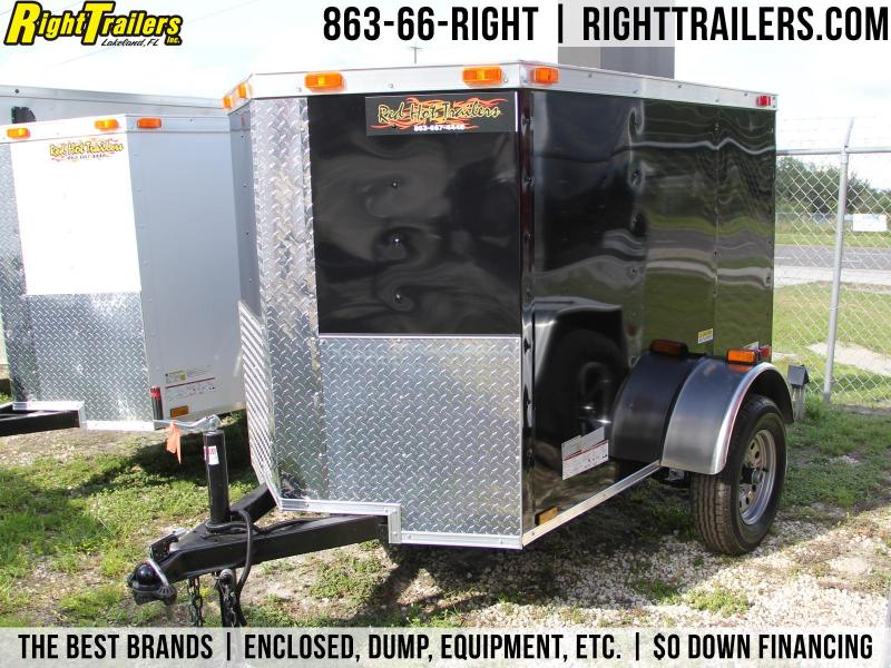 4x6 Red Hot Trailers | Enclosed Trailer [Black] in FL