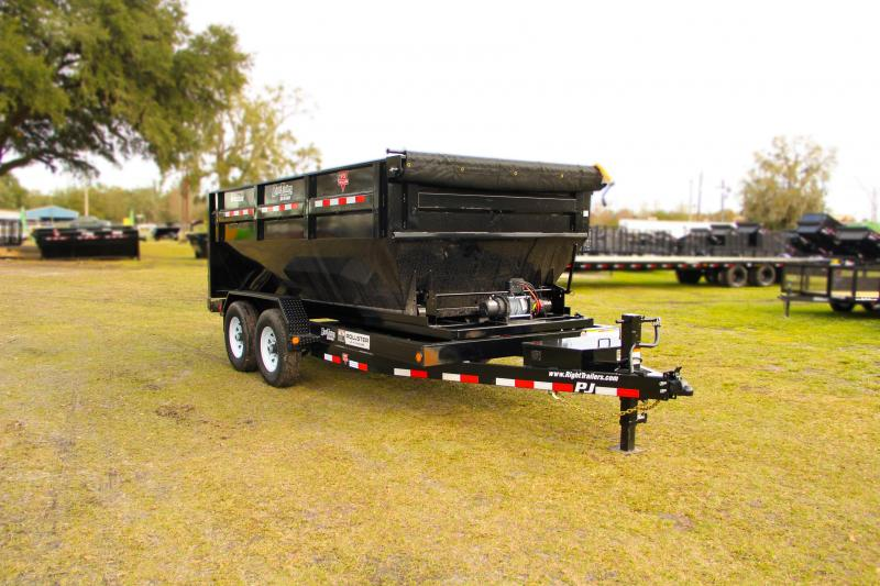 7x14x4 PJ Trailers | Roll Off Dump Trailer