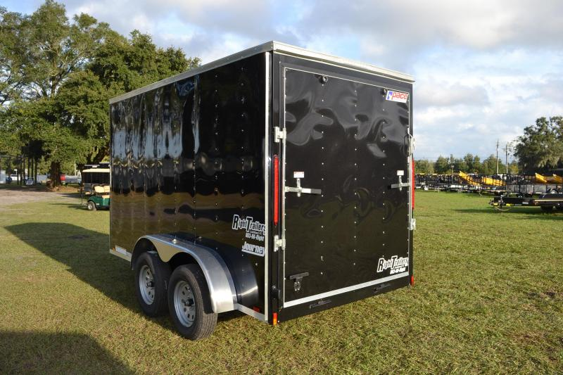 6x12 Pace American   Enclosed Trailer [Black]