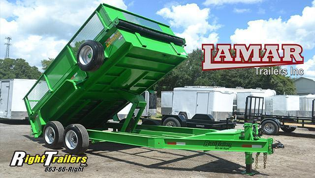 7x14 Lamar Trailer | Dump Trailer [Green] in Ashburn, VA