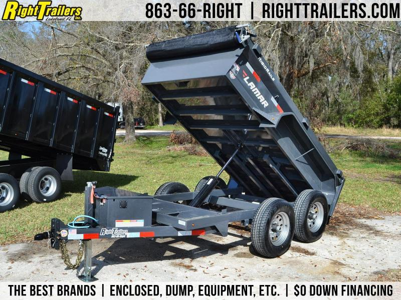 5x10 Lamar Trailers | Dump Trailer [Charcoal Gray] in Ashburn, VA