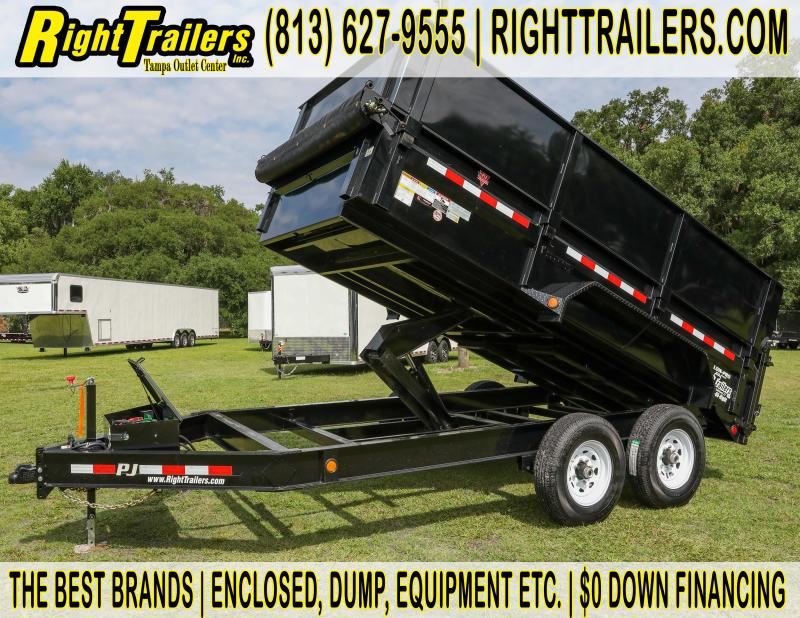 7x14x4 PJ |  Dump Trailer | Side Kit Installed | Tandem Axle