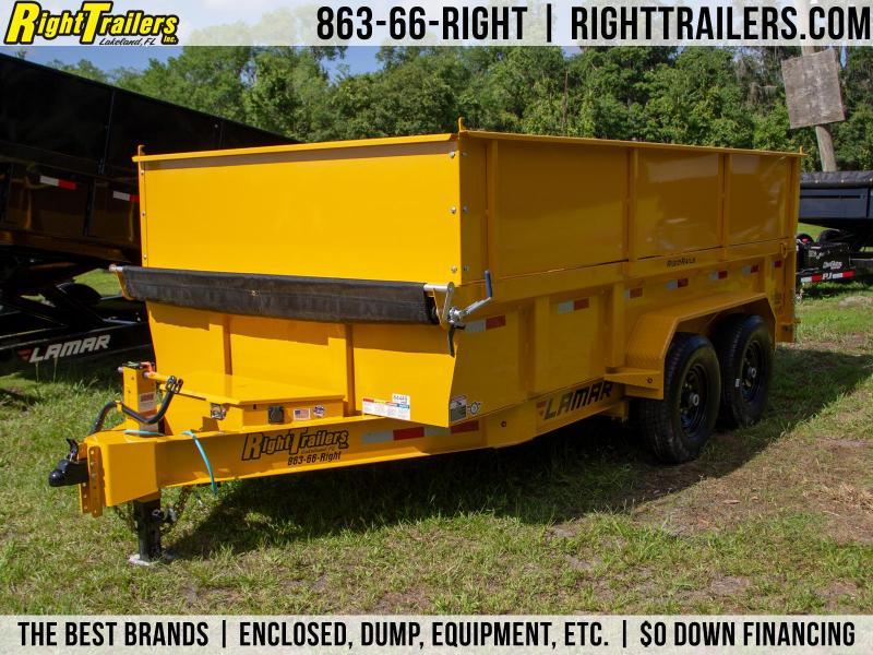 7x14x4 Lamar Trailers | Dump Trailer [CAT Yellow] in Ashburn, VA