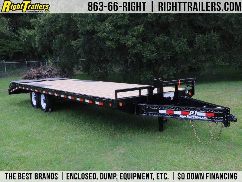8x26 PJ Trailers | F8 8 X 26 Deckover Equipment Trailer