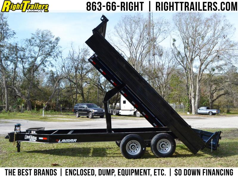 8x16 Lamar Trailers | Deck Over Dump Trailer