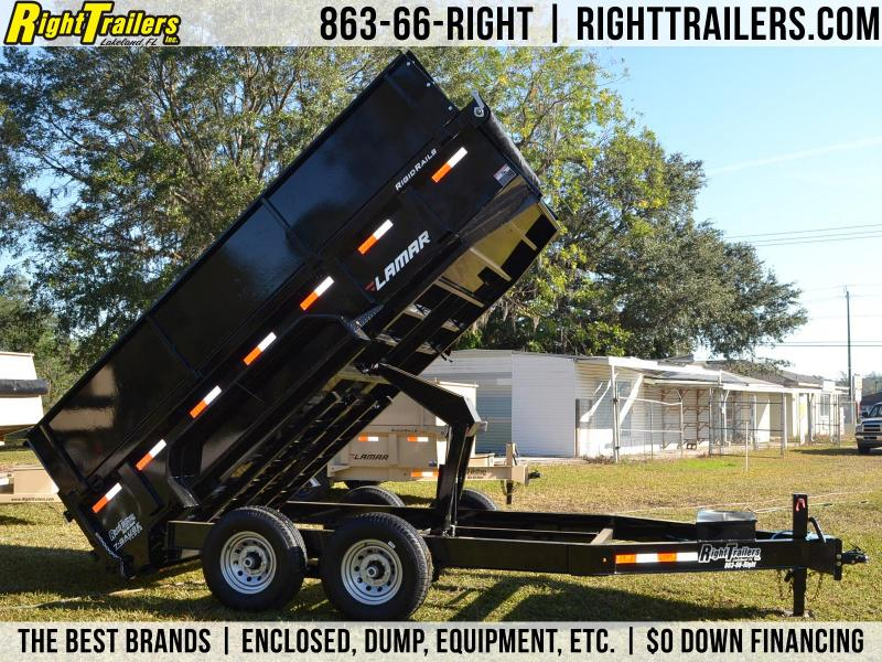 7x16x4 Lamar Trailers | Dump Trailer [2' Side Extensions] in Ashburn, VA