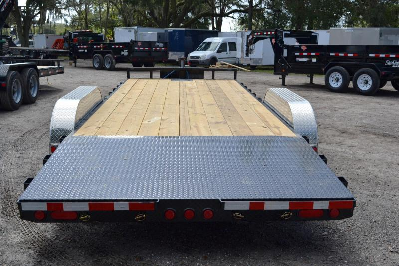 7x20 PJ Trailers | Open Car Hauler Trailer