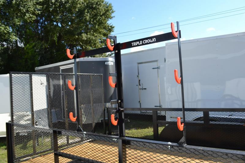 6x14 Triple Crown Utility Trailer With Weed Eater Racks