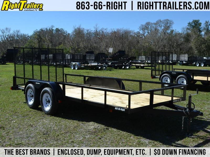 6x16 Red Hot | Tandem Axle Utility Trailer