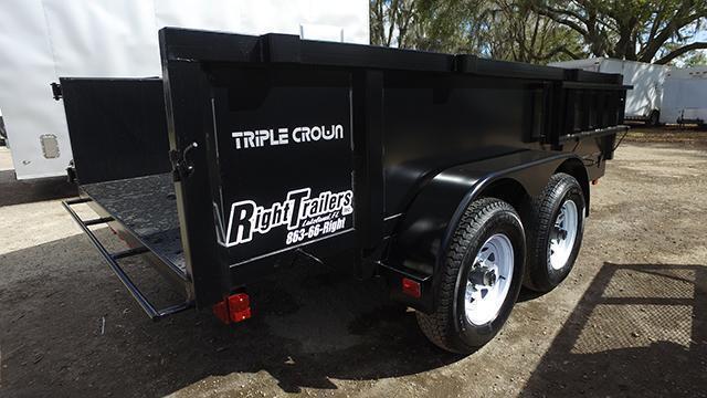 6x12 Triple Crown   Dump Trailer [Low-Rider]