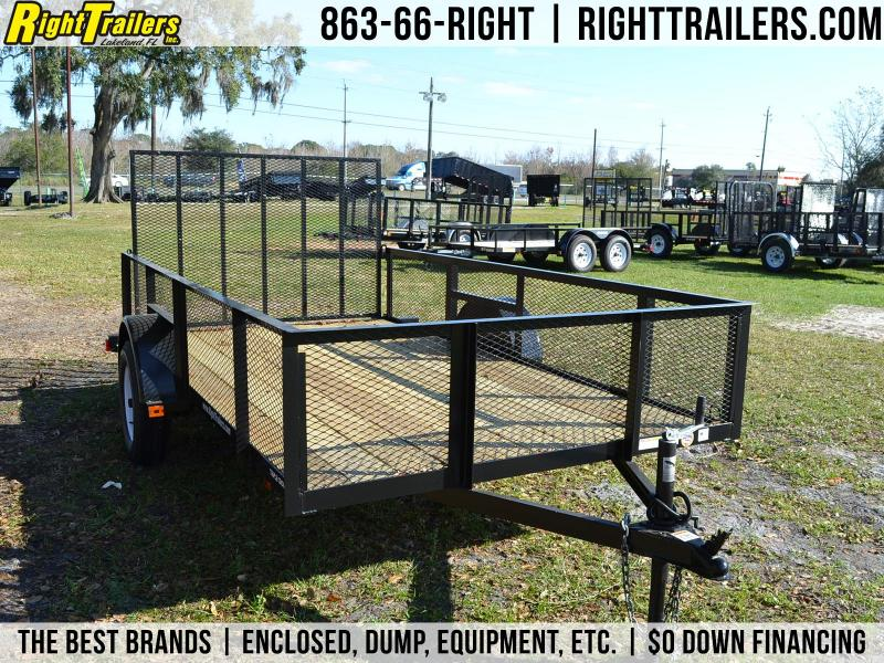 6x12 Red Hot Trailers   Utility Trailer