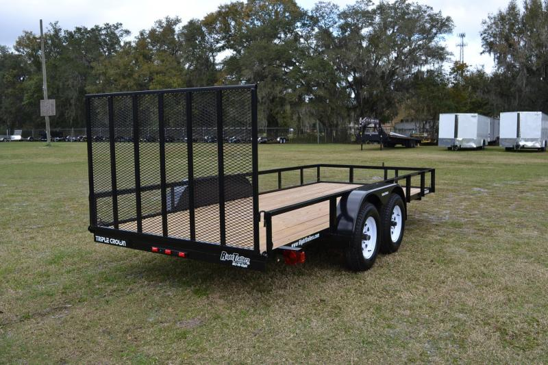 6x16 Red Hot Trailers   Utility Trailer