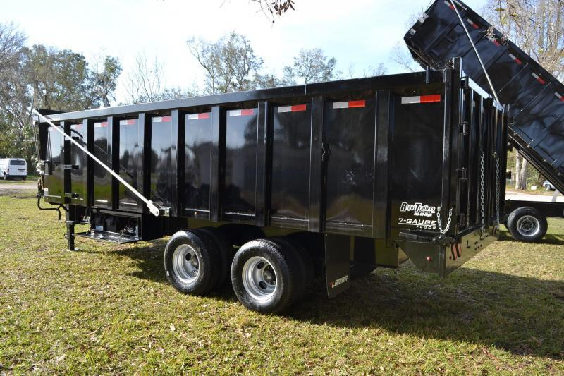 8x20x4 Lamar Dump Trailer Right Trailers New And
