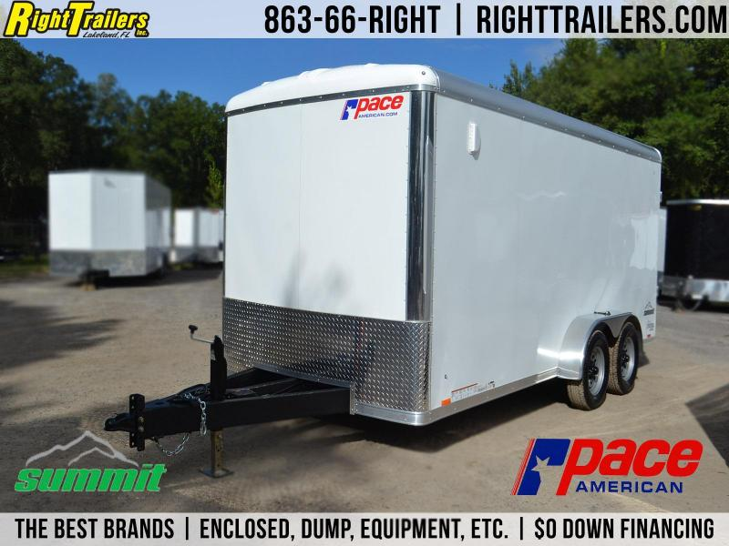 7x16 Pace American Summit Landscape Trailer Enclosed