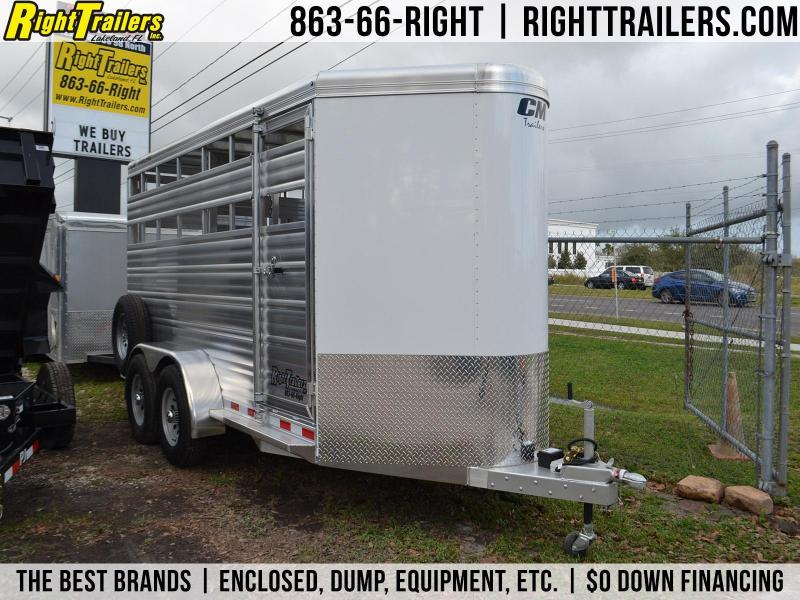 "6'8""x16' CM Horse Trailer 