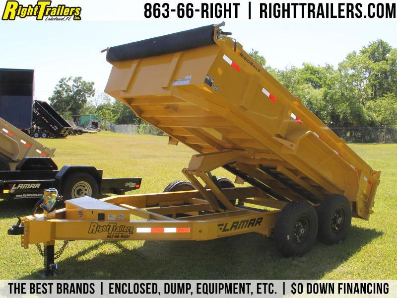 7x14 Lamar Trailers | Dump Trailer [Cat Yellow] in Ashburn, VA