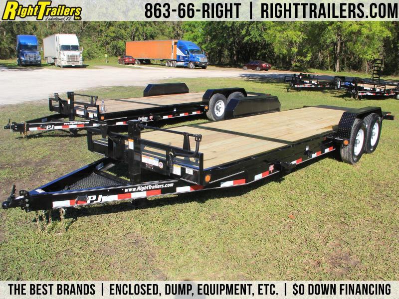 7x22 PJ Trailers | Equipment Trailer [Tilt Deck]
