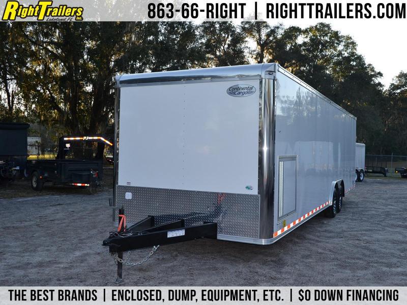 8.5x28 Continental Cargo | Enclosed Racing Trailer