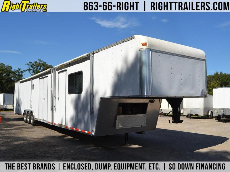 USED 8.5x53' United Trailers | Race Trailer LIVING QUARTERS