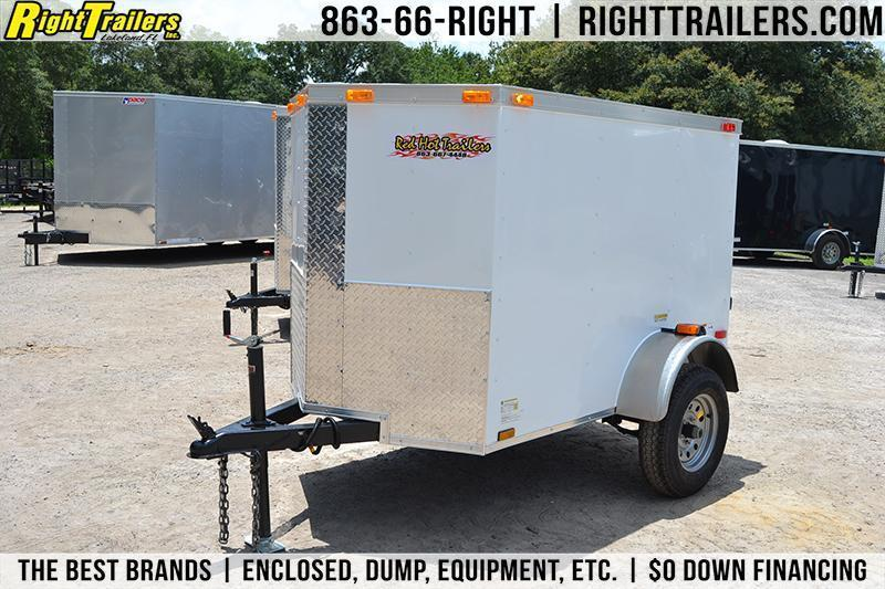 4x6 Red Hot Trailers | Enclosed Trailer