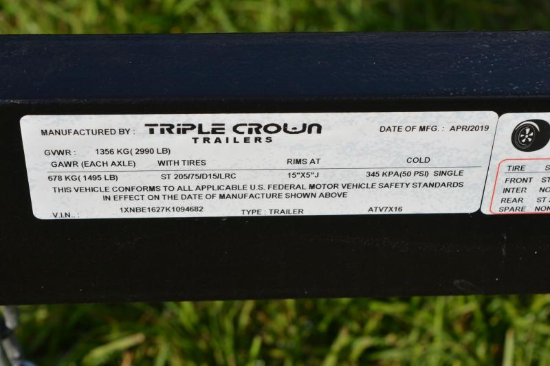 7x16 Triple Crown | ATV Utility Trailer