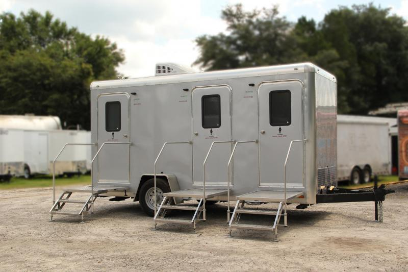 Three Station Restroom Trailer