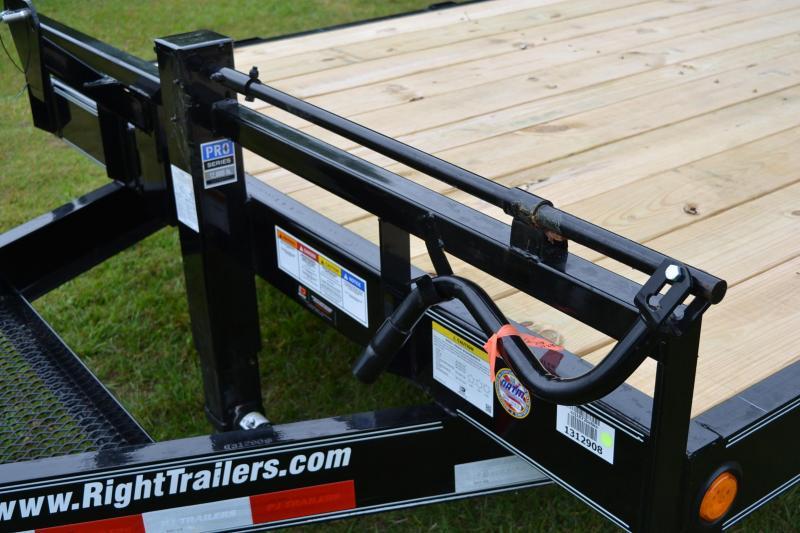 7x18 PJ Trailers   Equipment Trailer