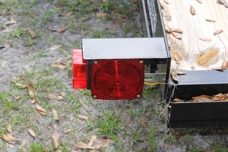 7x16 Red Hot Trailers   Open Car Hauler
