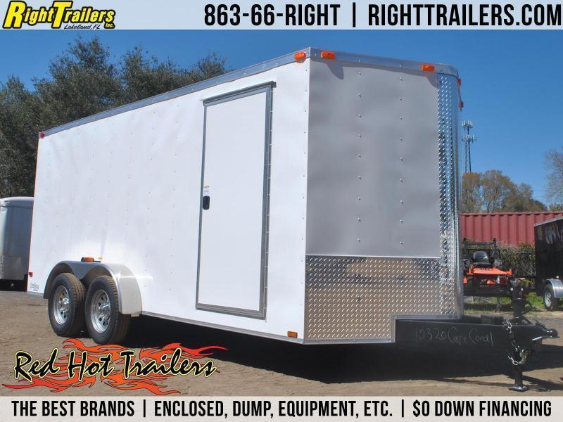 7x14 Red Hot Trailers | Enclosed Trailer [Barn Doors] in Ashburn, VA