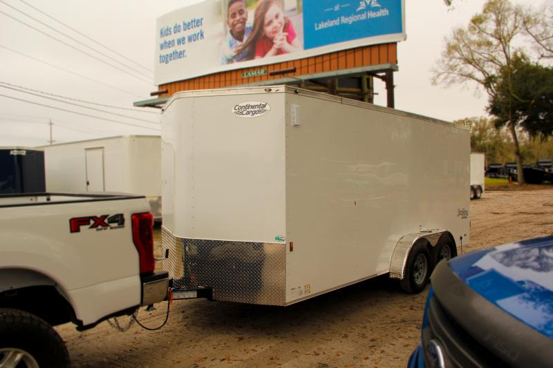 7x16 Continental Cargo Enclosed Trailer