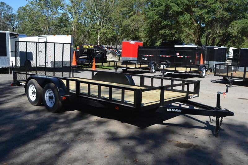 7x16 Red Hot Trailers | Utility/ATV Trailer